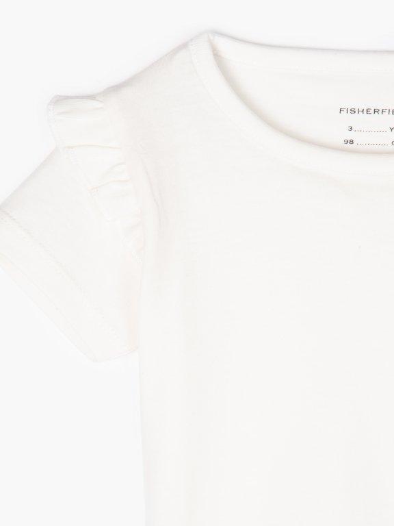 Basic t-shirt with ruffles