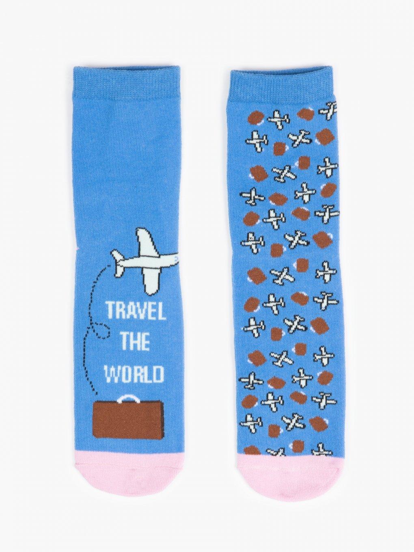 Plane pattern socks