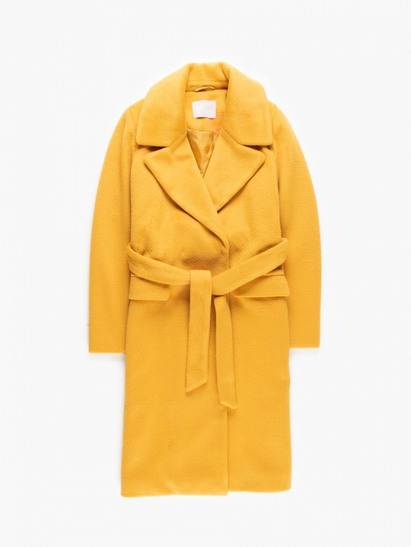 Dlouhý kabát s páskem
