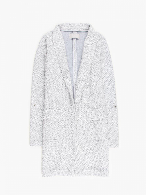 Longline marled blazer