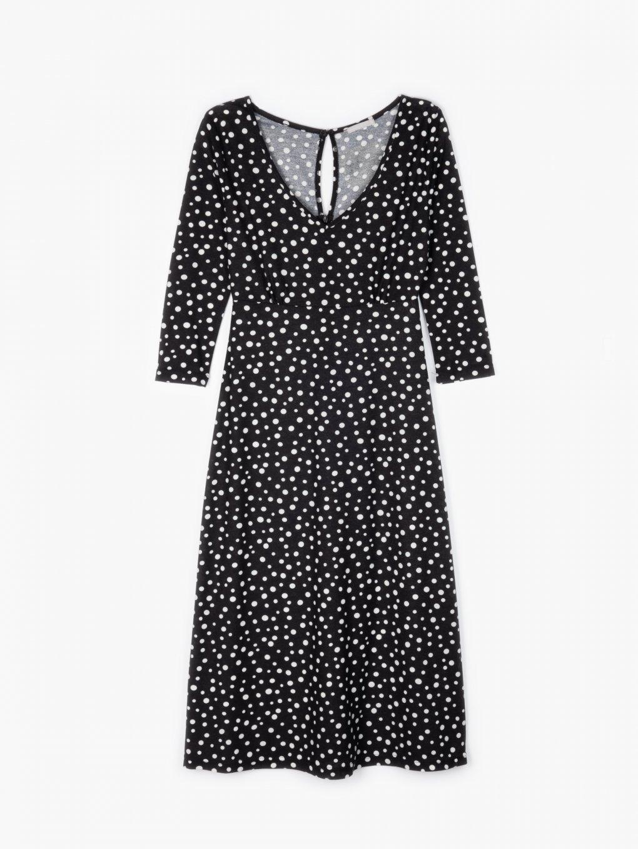 Polka dot print midi dress