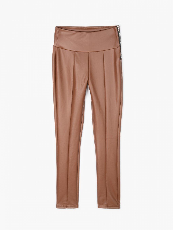 Faux leather warm leggings