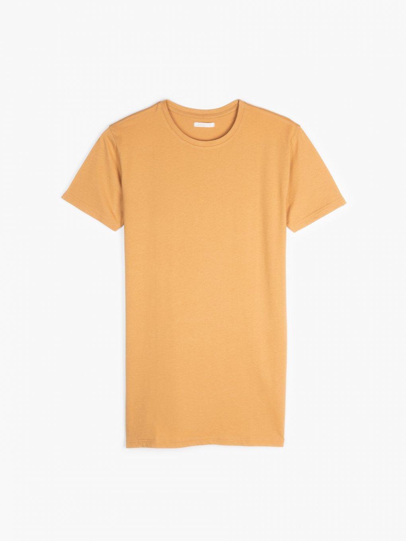 Basic przedłużona koszulka z bawełny