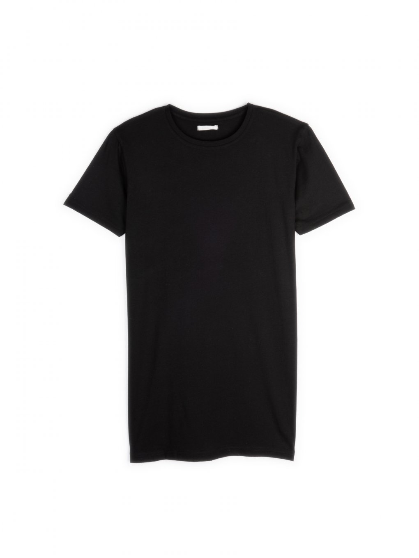 Základné predĺžené tričko z bavlny
