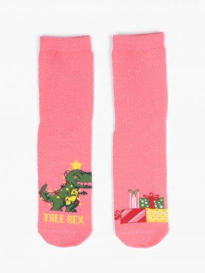 Sada dvou párů vánočních ponožek
