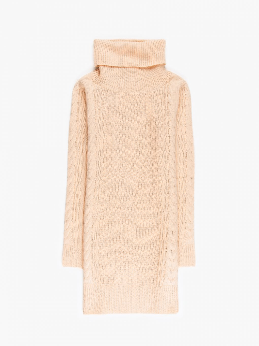 Longline turtleneck jumper