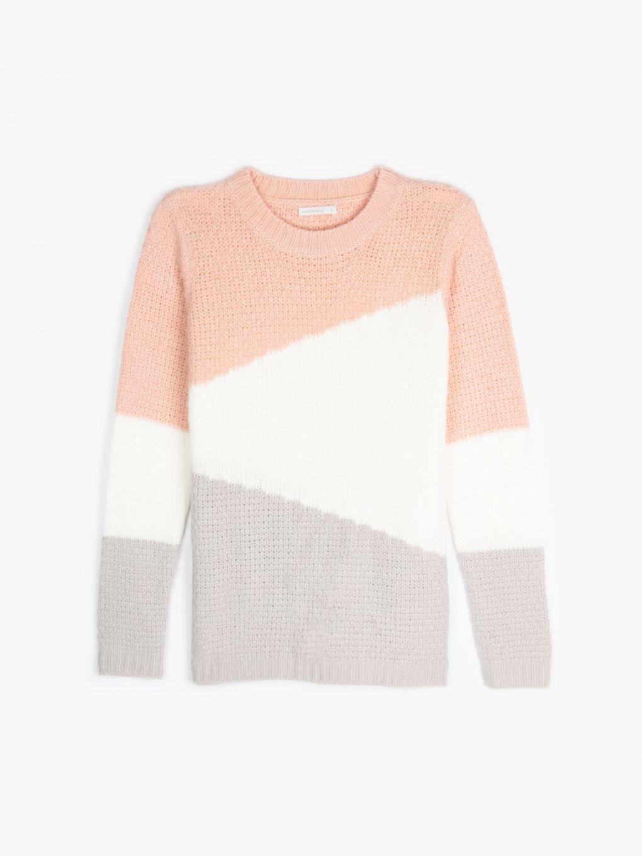 Vícebarevný pulovr