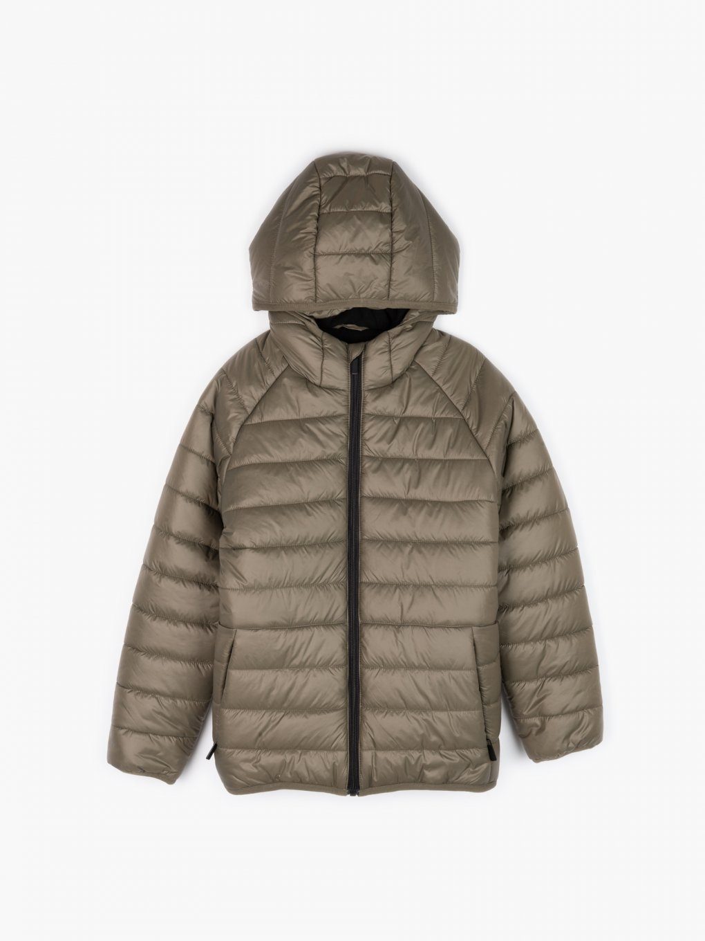 Basic fleece lined padded jacket