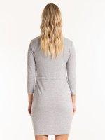 Marled dress with zipper