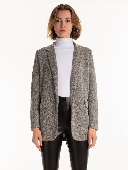Structured stretch blazer