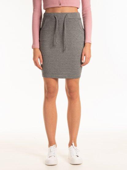 Marled mini skirt