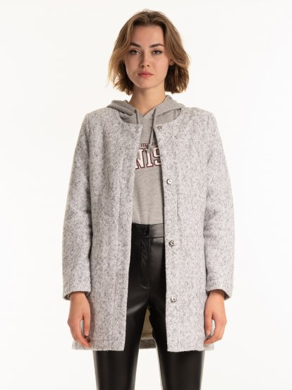 Pile lined coat
