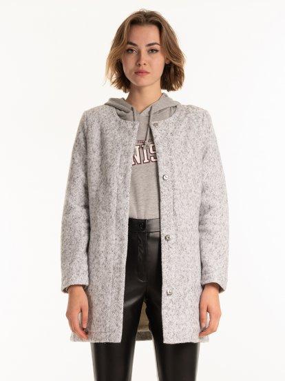 Kabát s plyšovou podšívkou