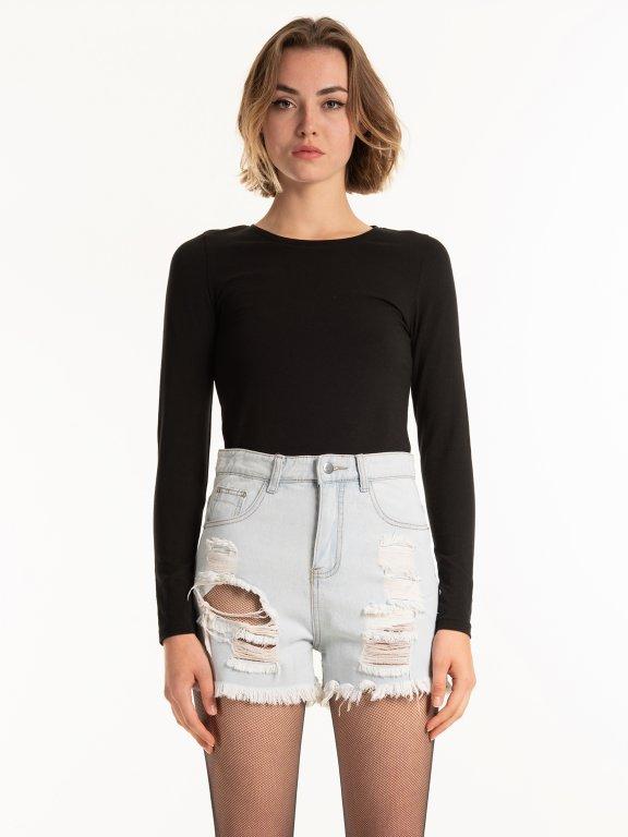Základní strečové triko s dlouhým rukávem