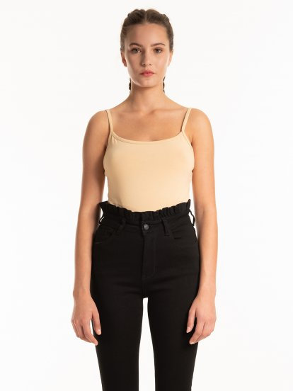 Basic strappy bodysuit