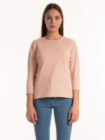 Basic cotton top with chest pocket