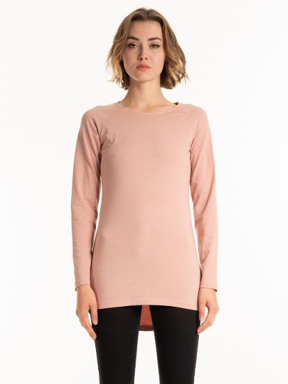 Basic longline stretch top