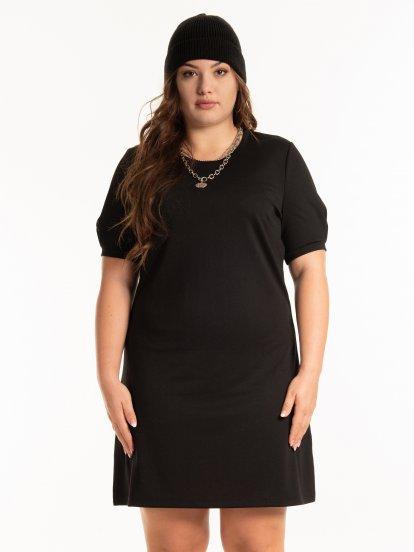 Plain stretch dress