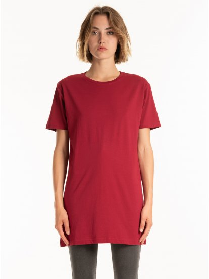 Basic longline cotton t-shirt