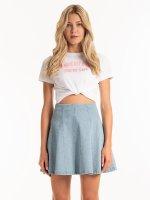 Slogan print cotton t-shirt