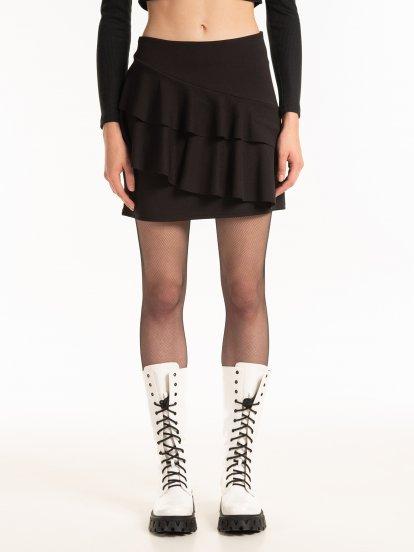 Mini skirt with ruffles