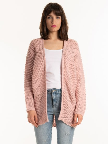 LOOSE-KNIT OVERSIZED CARDIGAN
