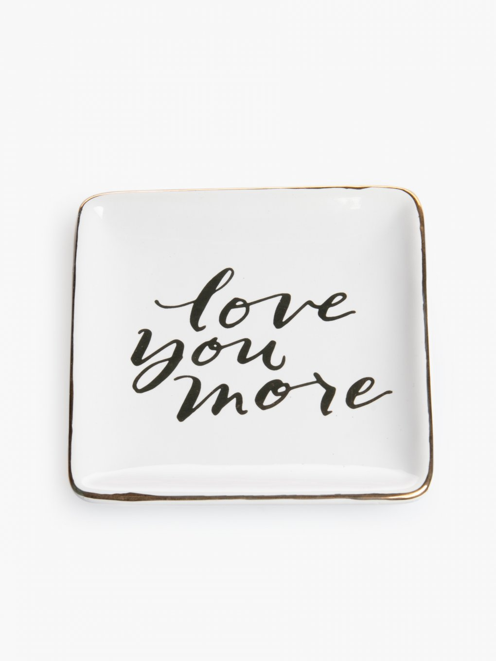 "Decorative tray ""love you more"""