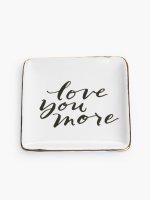 "Decorative tray ""love you more"""