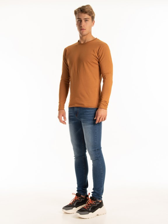 Basic raw edges t-shirt