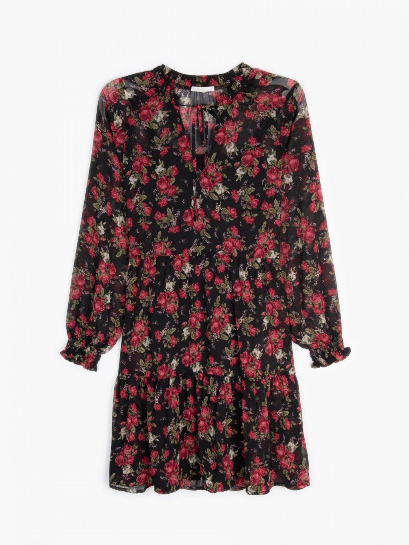 Šifónové šaty s kvetinovou potlačou