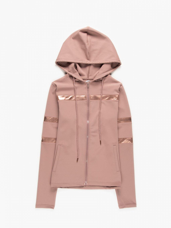 Sports zip-up hoodie