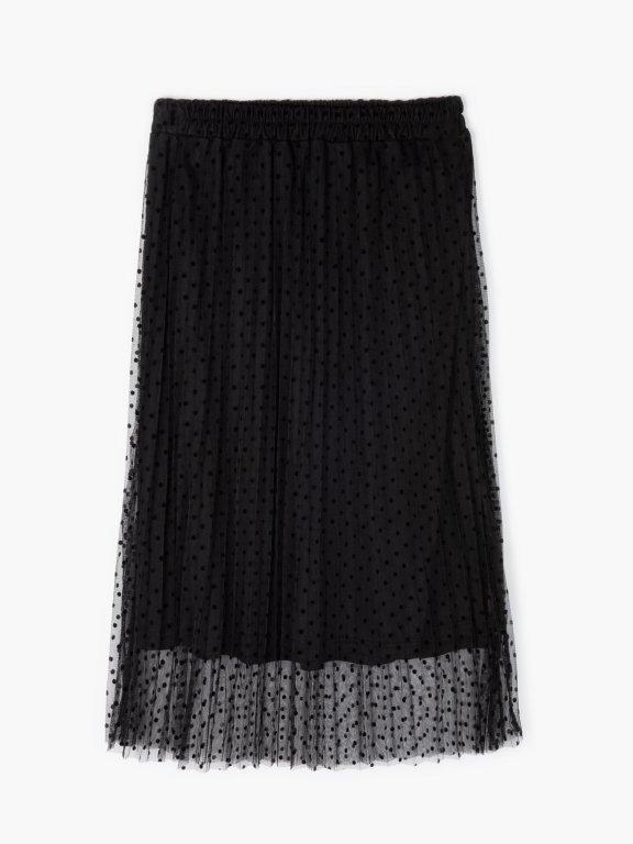 Tečkovaná tylová sukně