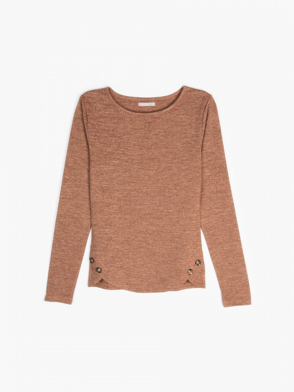 Fine knit top with buttons