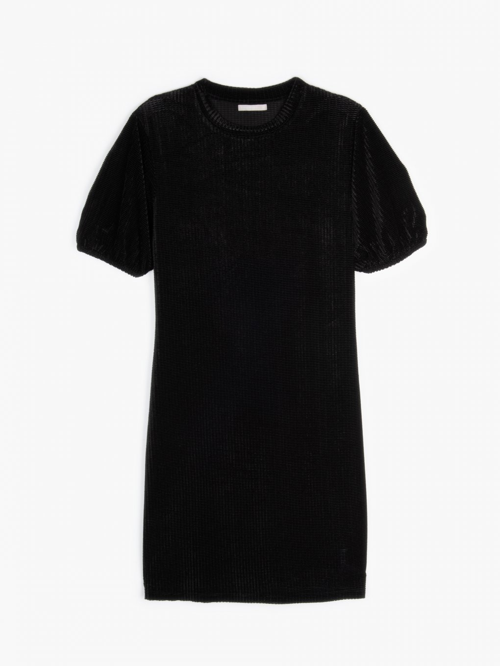 Structured velour dress