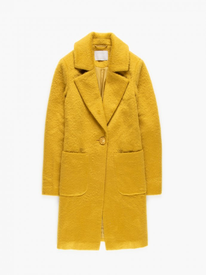 Single button coat