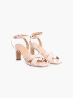 Patent finish high heel sandals