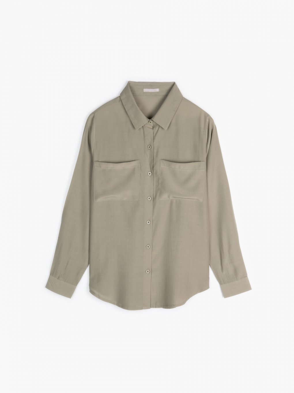 Plain blouse with chest pockets