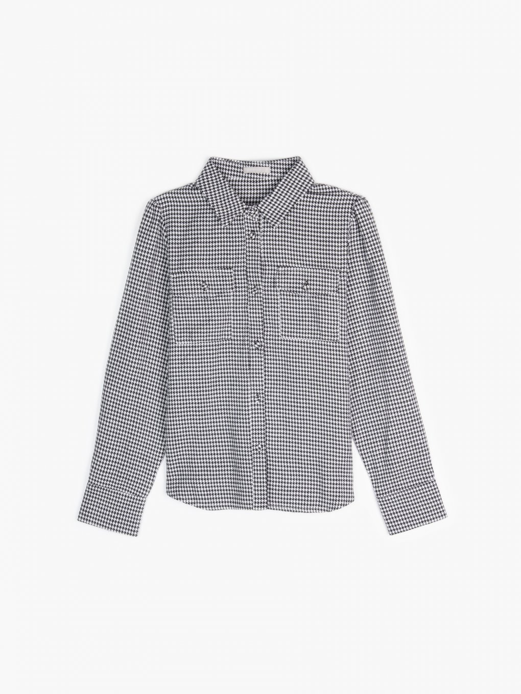 Košeľa s pepitovým vzorom