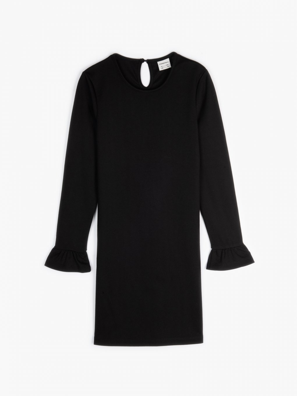 Plain dress with bell sleeves