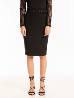 Bodycon skirt with belt