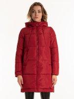 THINK GREEN: Dlouhá prošívaná bunda s vatováním z recykolvaného polyesteru
