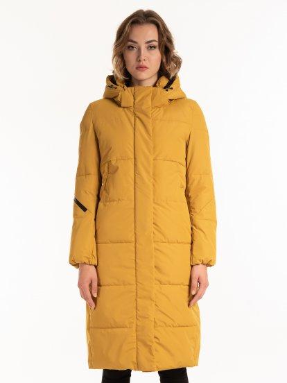 THINK GREEN: Dlhá prešívaná bunda s vatovaním z recykolvaného polyesteru