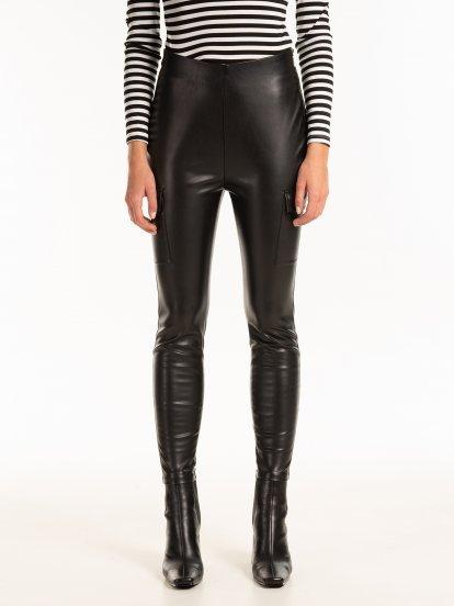 Kapsáčové nohavice z imitácie kože
