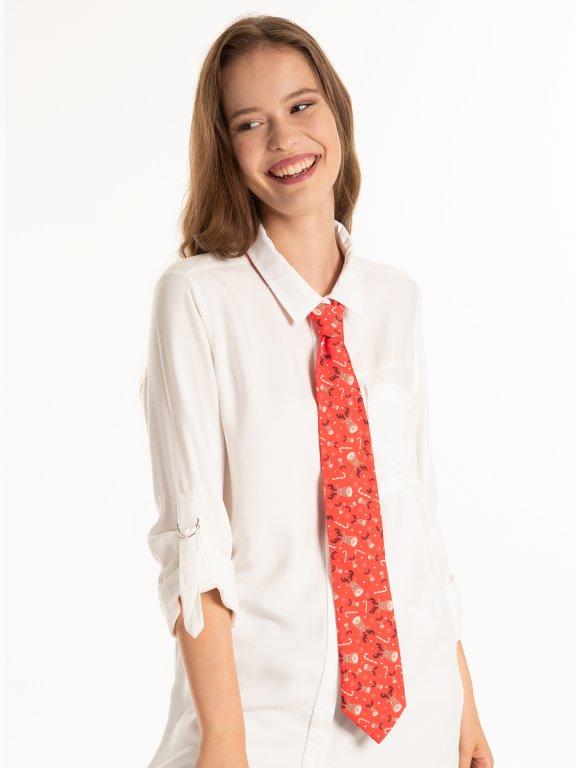 Krawat ze świątecznym motywem