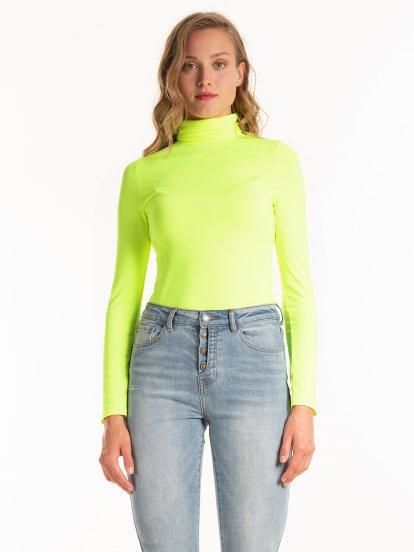 Neon rollneck t-shirt