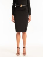 Bodycon skirt with creased detail