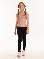 Ribbed rollneck t-shirt with ruffle