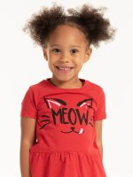 Graphic t-shirt with ruffle