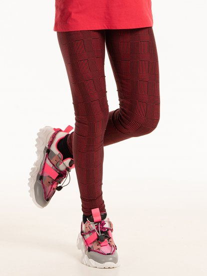 Checked print leggings
