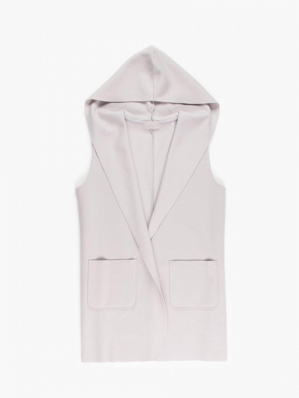 Dlouhá vesta s kapucí